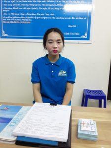Nguyễn Thị Thủy: SN 1994, Cử nhân kế toán, đăng ký làm nhân viên văn phòng